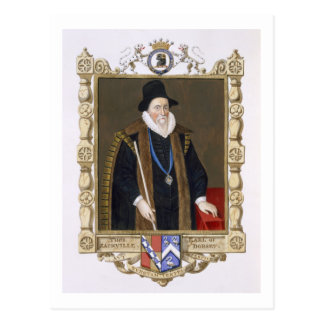 Portrait of Thomas Sackville (1536-1608) 1st Baron Postcard