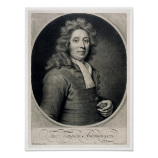 Portrait of Thomas Tompion  engraved by John Poster