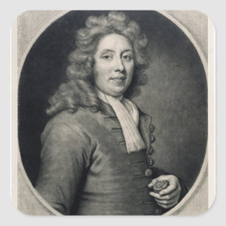 Portrait of Thomas Tompion  engraved by John Square Sticker
