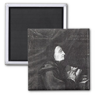 Portrait of Thomas Vicary 2 Inch Square Magnet