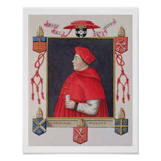 Portrait of Thomas Wolsey (c.1475-1530) Cardinal a Poster