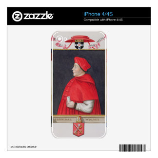 Portrait of Thomas Wolsey (c.1475-1530) Cardinal a Skins For The iPhone 4S