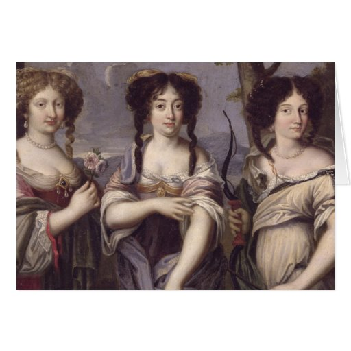 Portrait of three of nieces of Cardinal Greeting Card
