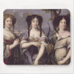 Portrait of three of nieces of Cardinal Mouse Pad