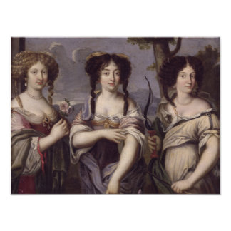 Portrait of three of nieces of Cardinal Poster