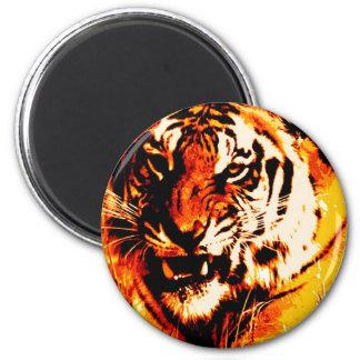 Portrait of Tiger 2 Inch Round Magnet