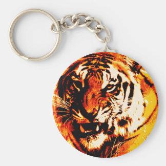 Portrait of Tiger Basic Round Button Keychain