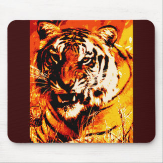 Portrait of Tiger Mouse Pad