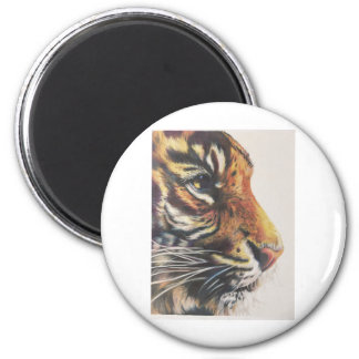 Portrait of Tiger Side View Magnet