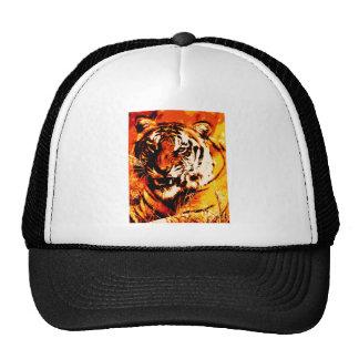 Portrait of Tiger Trucker Hat