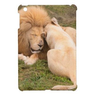 Portrait of Timbavati White lion male and female iPad Mini Cases