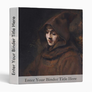 Portrait Of Titus In Monk'S Clothes, By Rembrandt 3 Ring Binders