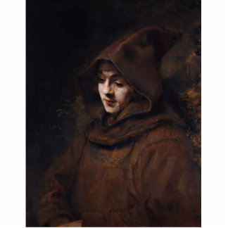 Portrait Of Titus In Monk'S Clothes, By Rembrandt Cutout
