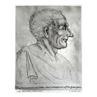 Portrait of Titus Livius known as Livy Postcard