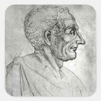 Portrait of Titus Livius known as Livy Square Sticker