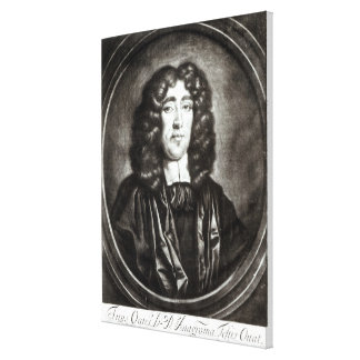 Portrait of Titus Oates  engraved by R. Thompson Canvas Print