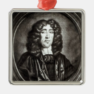 Portrait of Titus Oates  engraved by R. Thompson Square Metal Christmas Ornament