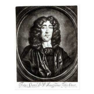 Portrait of Titus Oates  engraved by R. Thompson Postcard