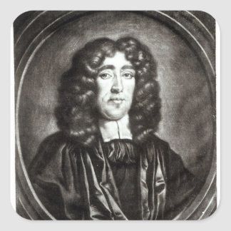 Portrait of Titus Oates  engraved by R. Thompson Square Sticker