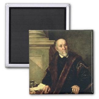 Portrait of Tommaso Giunta , 1563 2 Inch Square Magnet