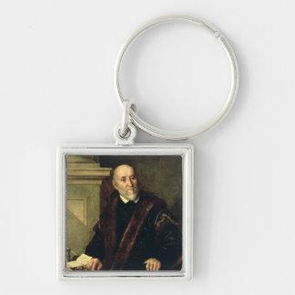 Portrait of Tommaso Giunta , 1563 Silver-Colored Square Keychain