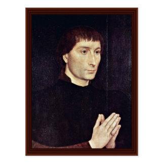 Portrait Of Tommaso Portinari By Memling Hans Postcard
