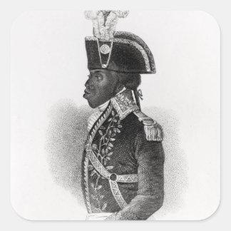 Portrait of Toussaint L'Ouverture Square Stickers