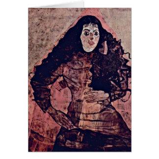 Portrait Of Trude Engel By Egon Schiele Greeting Card