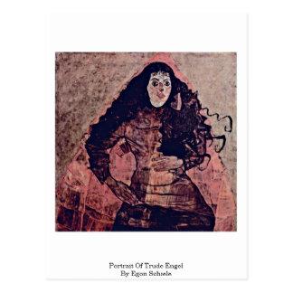 Portrait Of Trude Engel By Egon Schiele Postcard