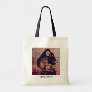 Portrait Of Trude Engel By Schiele Egon Canvas Bags