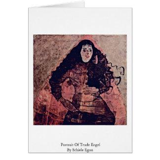 Portrait Of Trude Engel By Schiele Egon Greeting Card