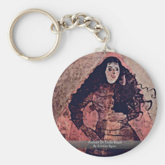 Portrait Of Trude Engel By Schiele Egon Key Chains