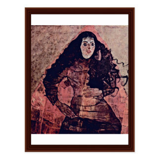 Portrait Of Trude Engel By Schiele Egon Postcard