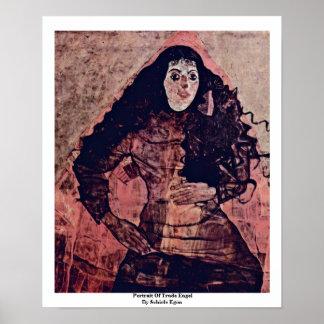 Portrait Of Trude Engel By Schiele Egon Print