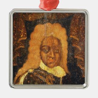 Portrait of Tsar Alexei I Metal Ornament