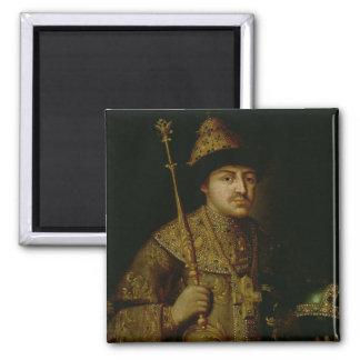 Portrait of Tsar Fyodor III Alexeevich 2 Inch Square Magnet
