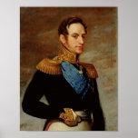 Portrait of Tsar Nicholas I  1826 Posters