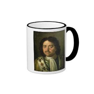 Portrait of Tsar Peter I the Great  1772 Coffee Mugs