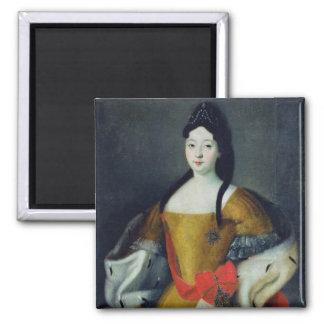 Portrait of Tsarevna Anna Petrovna, 1740s 2 Inch Square Magnet