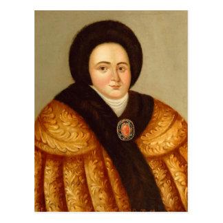 Portrait of Tsarina Evdokiya Lopukhina Post Card