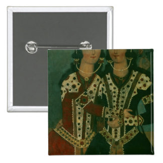 Portrait of Twins 2 Inch Square Button