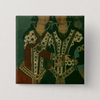 Portrait of Twins Button