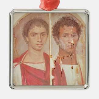 Portrait of two brothers metal ornament