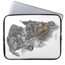 Neoprene Laptop Sleeve 15' with Doberman Pinscher Phone Cases design