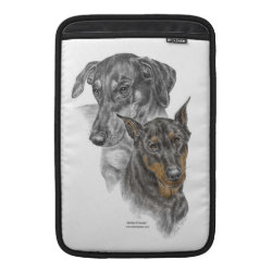 Portrait of Two Dobermans Sleeve For MacBook Air
