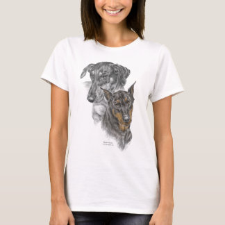 Portrait of Two Dobermans T-Shirt