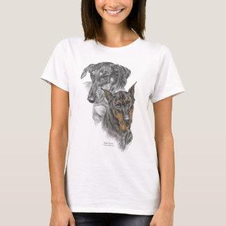 Portrait of Two Dobermans T-Shirt