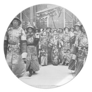 Portrait of Tz U-Hsi 1835-1908 Empress Dowager o Party Plate