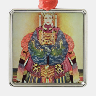 Portrait of Tzu Hsi the Empress Dowager Christmas Tree Ornament