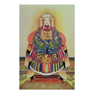 Portrait of Tzu Hsi, the Empress Dowager Poster